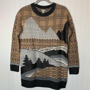 Woolrich womens tunic sweater tree mountain size S